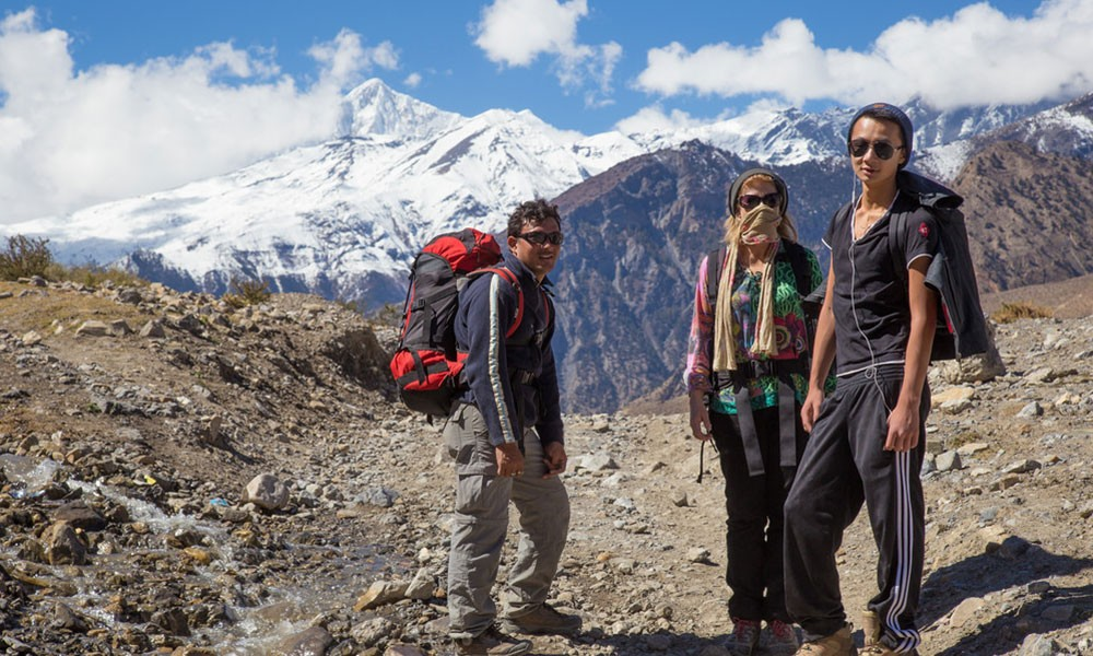 Cost of Guide and Porter for Mustang Trek